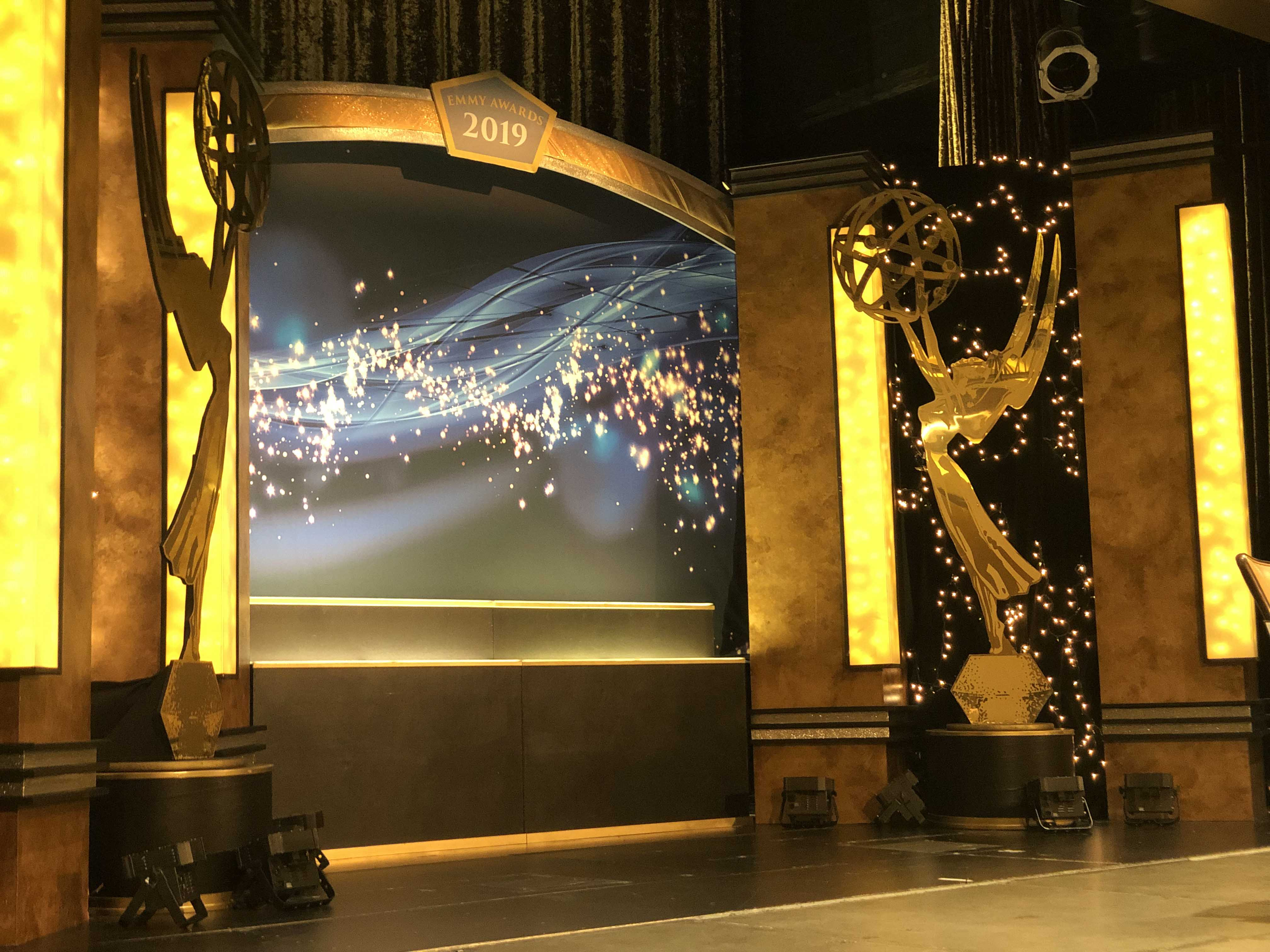 Stage setup at the 2019 Emmy Awards